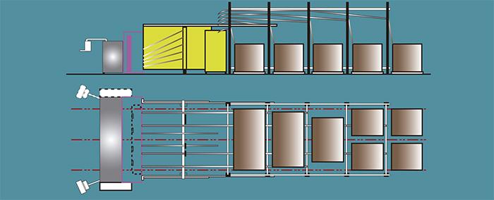 Découpeuses de boîtes avec introducteur automatique et modules en carton simples