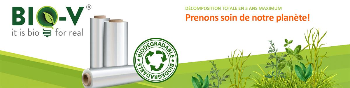 plastique biodégradable bio v